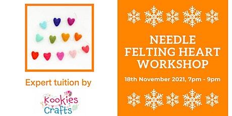 Christmas Needle Felting Heart Garland Workshop tickets