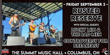 RUSTED RESERVE at The Summit Music Hall - Friday September 3 tickets
