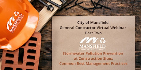 Stormwater Pollution Prevention at Construction Sites: Common BMPs tickets