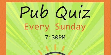 Weekly pub quiz tickets