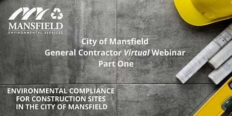 Environmental Compliance for Construction Sites in the City of Mansfield tickets