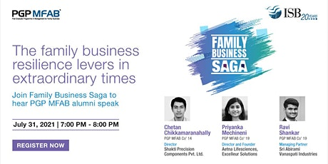 ISB (PGP MFAB) Family Business Saga ( Alum Event ) | July tickets