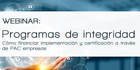 Webinar: Programas de Integridad entradas