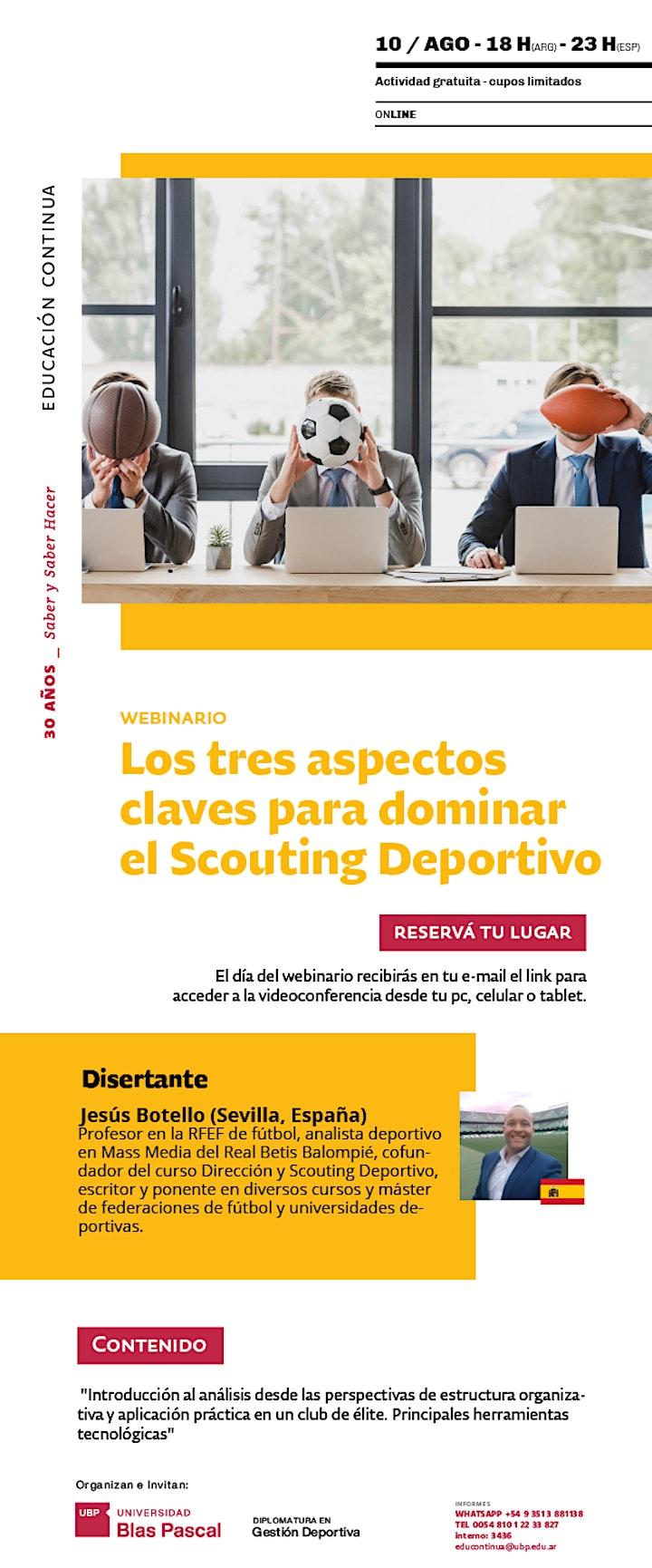 Imagen de Webinario> Los tres aspectos claves para dominar el Scouting Deportivo