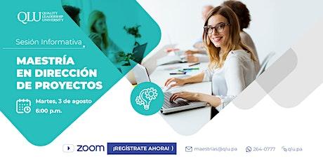 Sesión Informativa - Maestría en Dirección de Proyectos entradas
