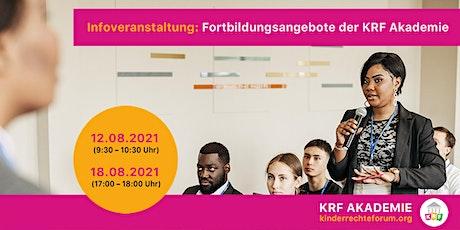 Infoveranstaltung: die Fortbildungsangebote der KRF Akademie tickets