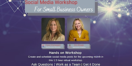SOCIAL MEDIA SCHEDULING WORKSHOP | AUG 2021 | SMALL BUSINESS OWNERS tickets