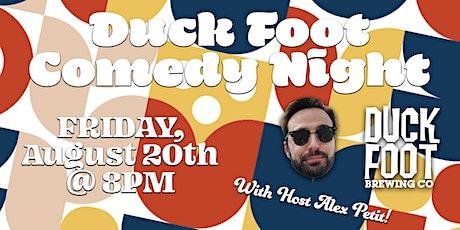 Duck Foot Miramar August Comedy Night! AUGUST 20, 2021 tickets