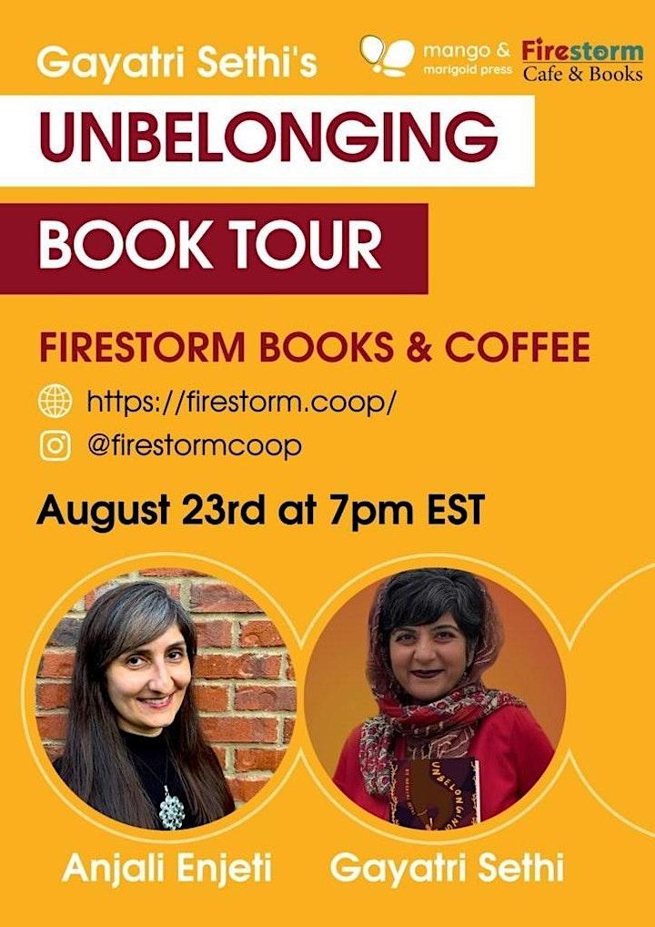 """""""Unbelonging"""" Book Release image"""