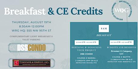 CAM CE Breakfast w/ DSS Condo & Stroemer & Company, LLC tickets