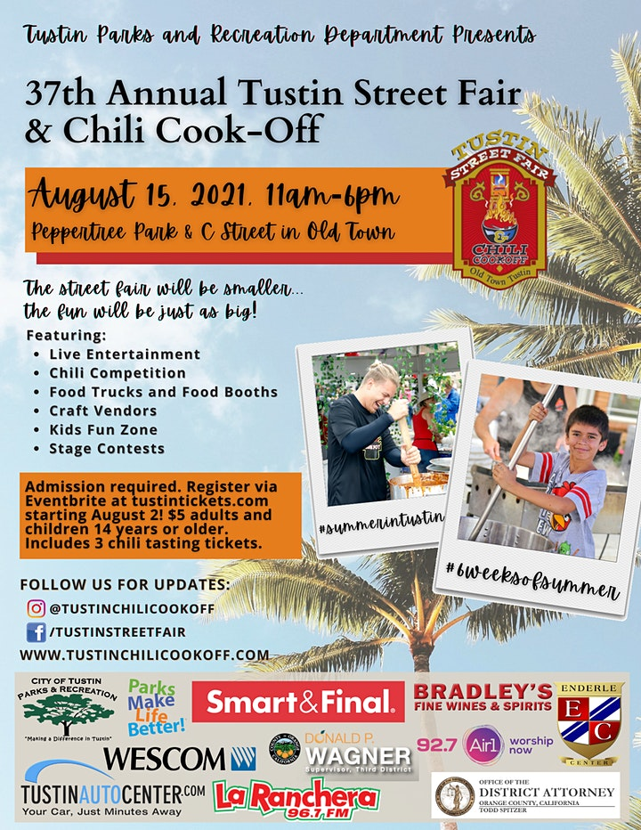 City of Tustin Chili Cook-Off and Street Fair image