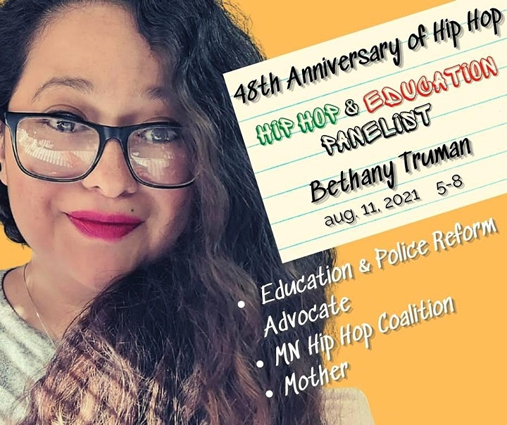 48TH Anniversary of Hip Hop Culture Panel Discussion: Hip Hop & Education image