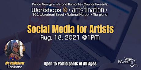 Workshops at Arts'tination: Social Media for Artists tickets