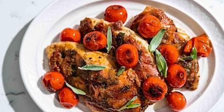 Crispy Prosciutto Chicken: FREE Virtual Cooking Class tickets