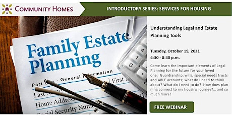 Understanding Legal and Estate Planning Tools 10/19/21 tickets