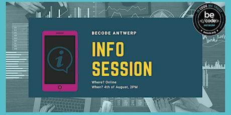 BeCode Antwerp: Infosession AI Data & Junior Web Dev tickets