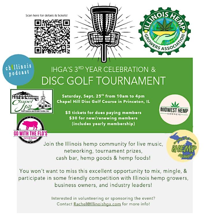 IHGA's 3rd Year Anniversary Celebration and Disc Golf Tournament image