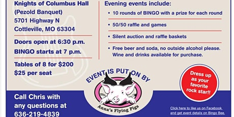 Rock and Roll Bingo to benefit St Jude Children's Research Hospital tickets