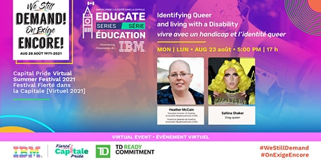 EDUCATE series: Identifying Queer and living with a Disability tickets