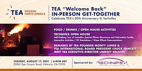"""TEA """"Welcome BacK"""" In-Person Get-Together"""" tickets"""