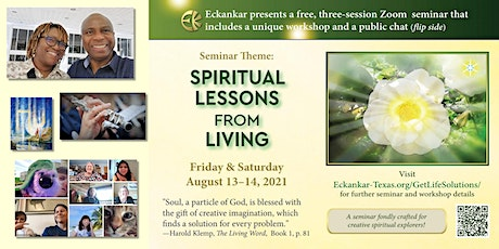 Register now: Spiritual Lessons From Living (Aug. 13-14) tickets