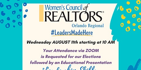 """WCR Orlando Elections & Educational Event: """"Leadership Skills You Need"""" tickets"""
