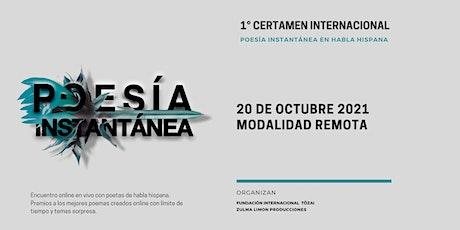 Certamen internacional Poesia Instantánea y Audiovisual PoemaClip Dia1 boletos