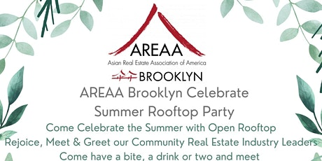 AREAA Brooklyn Celebrate Summer Rooftop Party tickets
