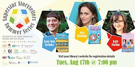 Superstar Storytellers: Jess Keating, Katy Farina, and Aron Nels Steinke! tickets