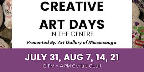 Hourly Schedule Creative Arts Days tickets