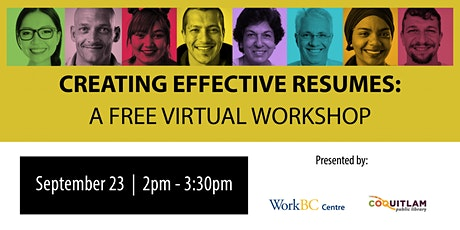 Creating Effective Resumes: A Free Virtual Workshop tickets