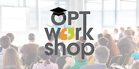 OPT Workshop - ONLINE billets
