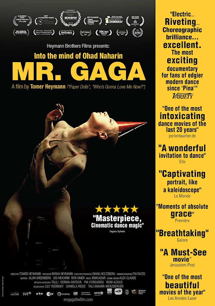 Mr. Gaga Movie Screening and Q&A with Director image
