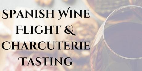 Spanish Wine Flight and Charcuterie Tasting tickets