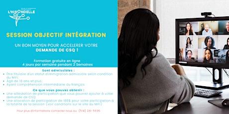 Session objectif intégration billets