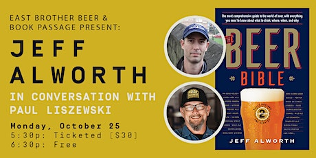 EAST BROTHER & BOOK PASSAGE PRESENT: A CONVERSATION WITH JEFF ALWORTH tickets