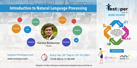 MasterClass -Introduction to Natural Language Processing from 25 Sep 2021 tickets