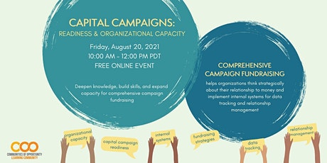 Capital Campaign Readiness and Organizational Capacity tickets