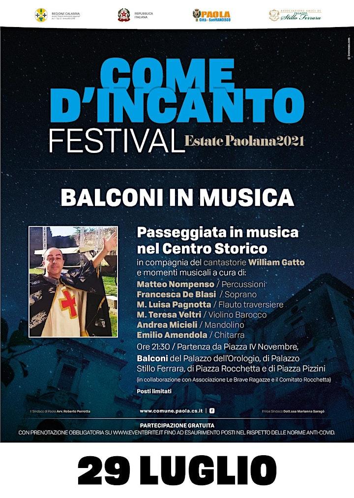 Immagine Come d'incanto Festival & Paola Festival-BALCONI IN MUSICA