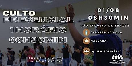 CULTO PRESENCIAL MANHÃ - IBFLAURO (1º HORÁRIO- 08:30) ingressos