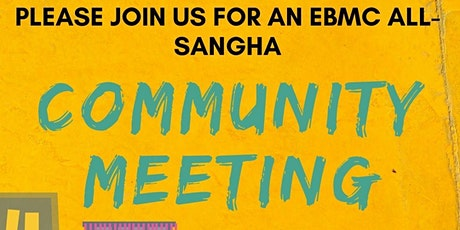 Thursday August 5: Community Meeting tickets