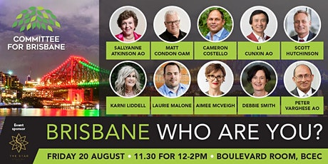 Brisbane, who are you?  Exploring Brisbane's identity. tickets