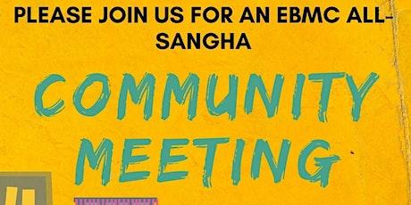 Sunday August 8: Community Meeting tickets