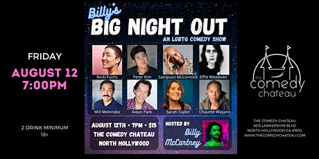 Billy's Big Night Out at The Comedy Chateau tickets