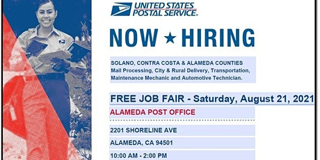 USPS FREE HIRING EVENT- ALAMEDA POST OFFICE tickets
