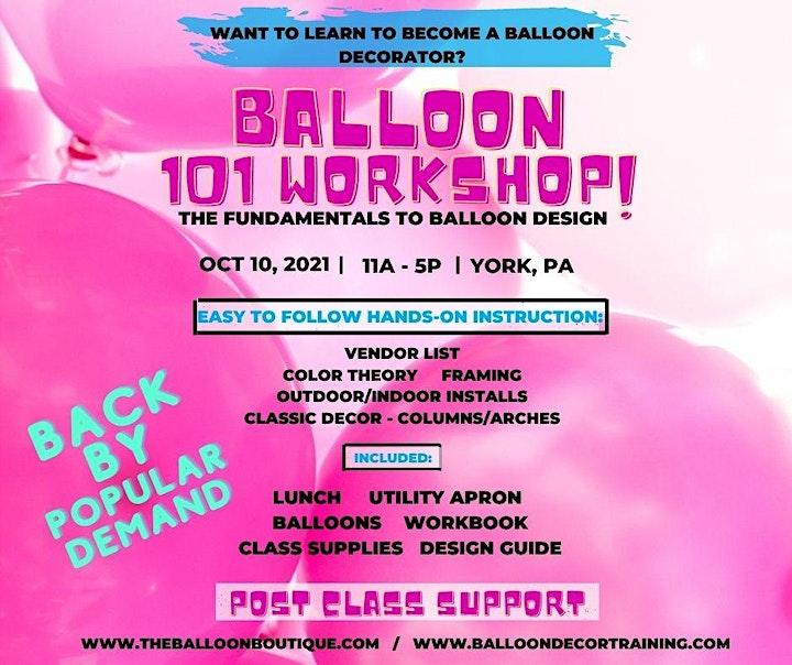 Balloon 101 Workshop - Fall 2021 image
