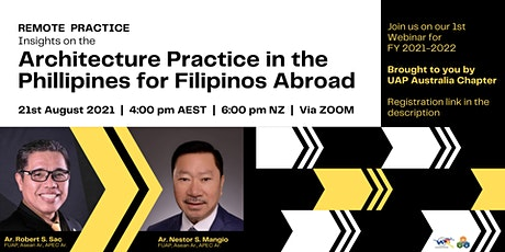 Architecture Practice in the Philippines for Filipinos Abroad tickets