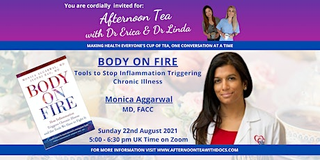 BODY ON FIRE: Tools to Stop Inflammation Triggering Chronic Illness tickets