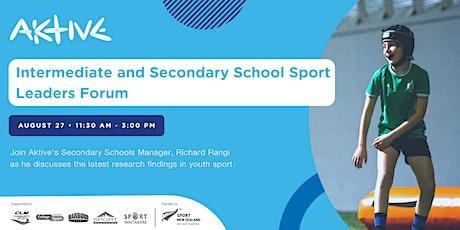 Intermediate and Secondary School Sport Leaders Forum tickets