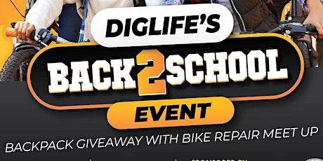 DIGLIFE's Back2School BackPack Giveaway & Bike Repair Meet Up tickets